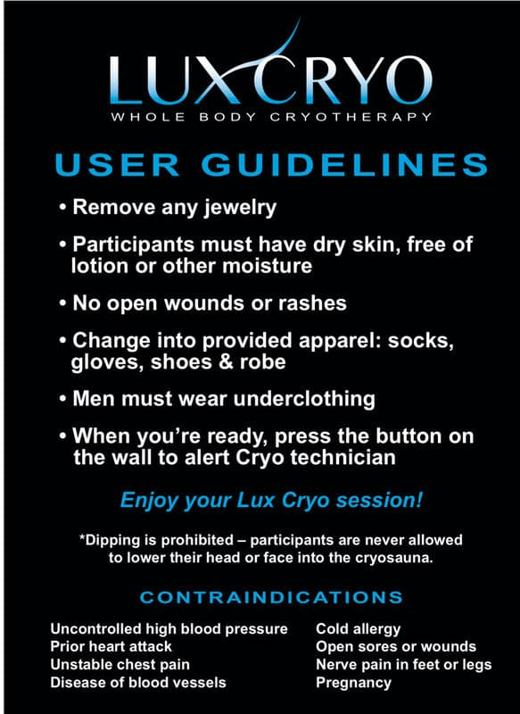 LuxCyro User Guidelines Brochure